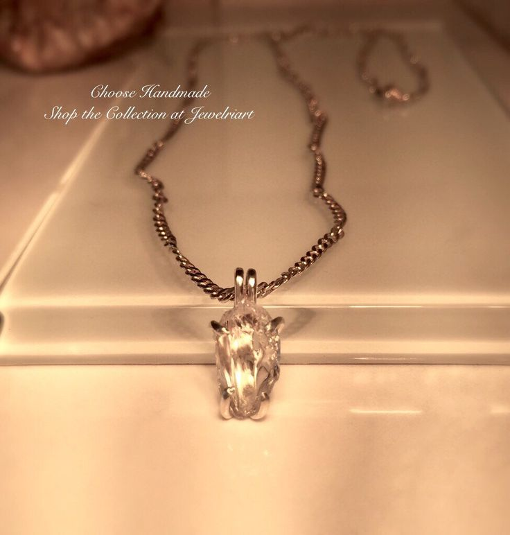 A personal favorite from my Etsy shop https://www.etsy.com/listing/497652416/handmade-raw-lake-county-diamond-and