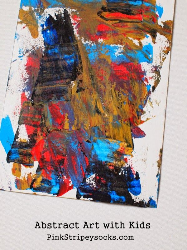 Create Abstract Art with young kids using this SUPER EASY TECHNIQUE!