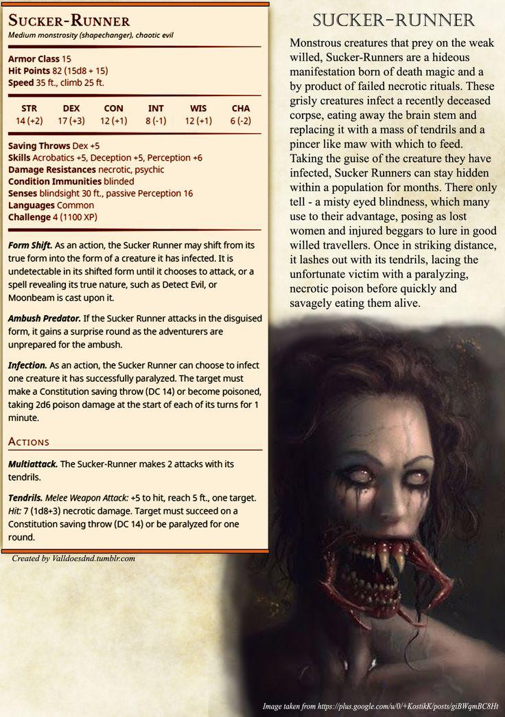 Sucker - Runner rules. Pretty horrifying if you ask me.