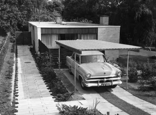 Parcelhus. Polfoto 1962