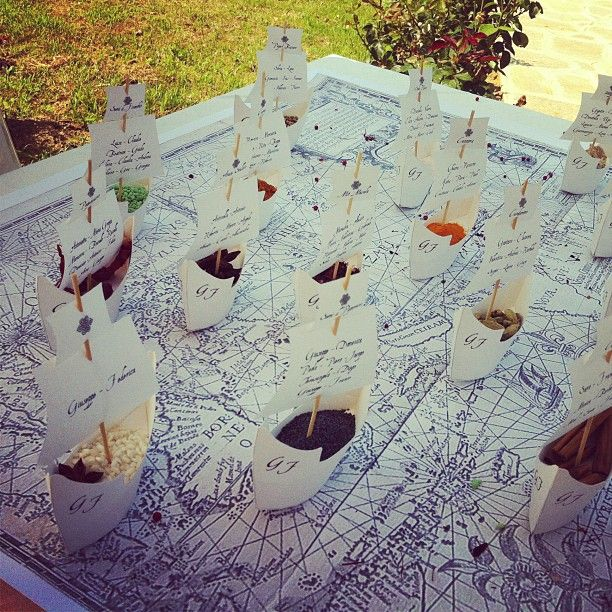 Idea originale per un #tableau a tema #mare! Vi piace? #wedding