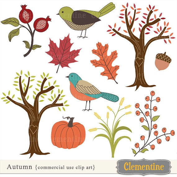 Fall clip art images  fall clipart autumn by ClementineDigitals, $5.00