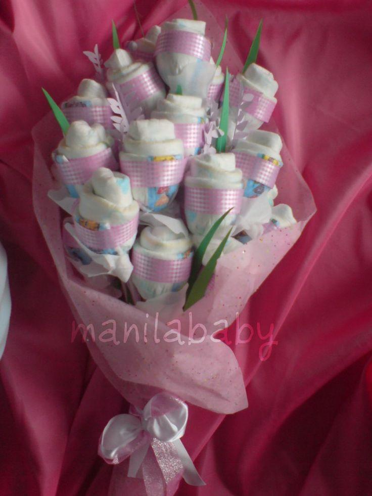 Ideas about diaper flower bouquets on pinterest