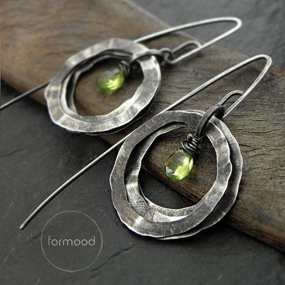 Earrings peridot or blue topaz by studioformood on Etsy