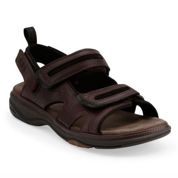 Set in a rich oiled full-grain leather upper with four-way adjustable  straps, this men's sandal gives a ...