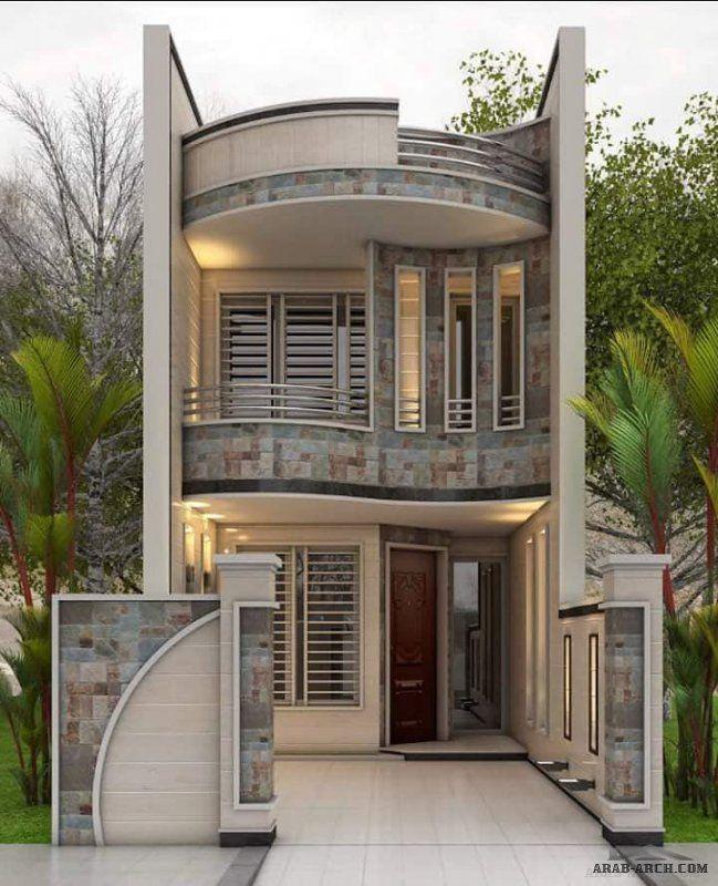 واجهات بيوت عراقية عرض 5 متر و أقل منوع House Exterior House Design House Styles