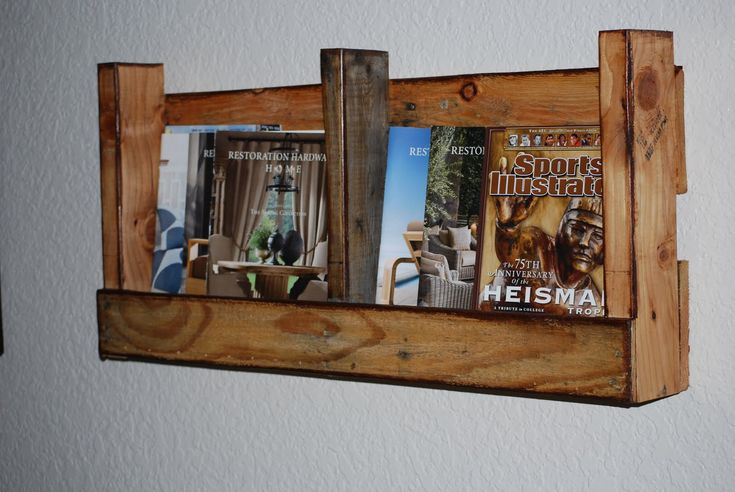 Shelves made out of wood pallets. Just cut down, sand and ...