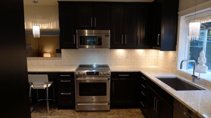 ikea kitchen designer chicago ikea ramsjo black brown with white subway tile backsplash 200