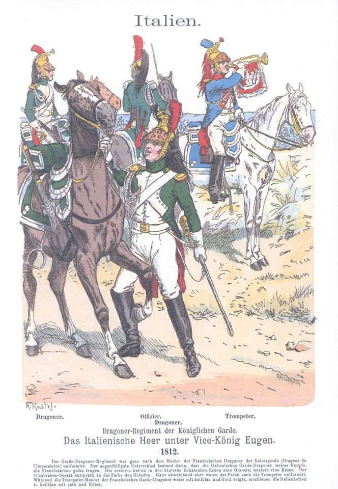 Band III #18.- Italien. Das italienische Heer unter Vice-König Eugen. 1812.