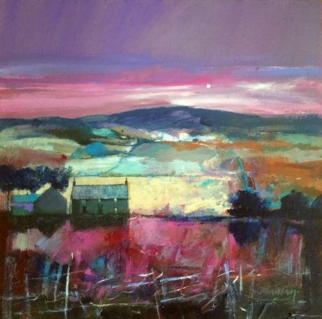 Dugald Findlay, Nightfall, Mixed Media | Scottish Contemporary Art