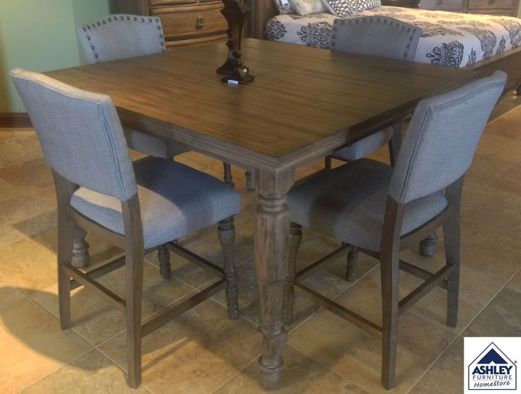 Vintage Inspiration With A Softer Side Tanshire Counter Height Dining Room Table Sets The Stage For Rustic Refinement