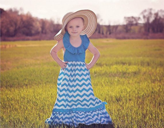 Get your daughter one of these adorable maxi dresses from Princess Adalyn's Boutique On Etsy - Only $32.99. Great price so you can get one in every color :)   Toddler Girls Light Blue Maxi Dress // Flower by AdalynsBoutique, $32.99