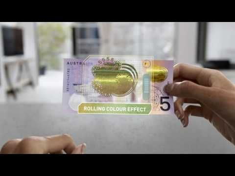 Next generation of Australian banknotes: New $5 (60 second video) - YouTube