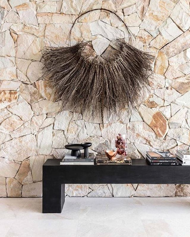 Beautiful textures in the incredible home of @jenhawkins_ and @jakewwall  Decorated by @sjs_designer and @design_notes
