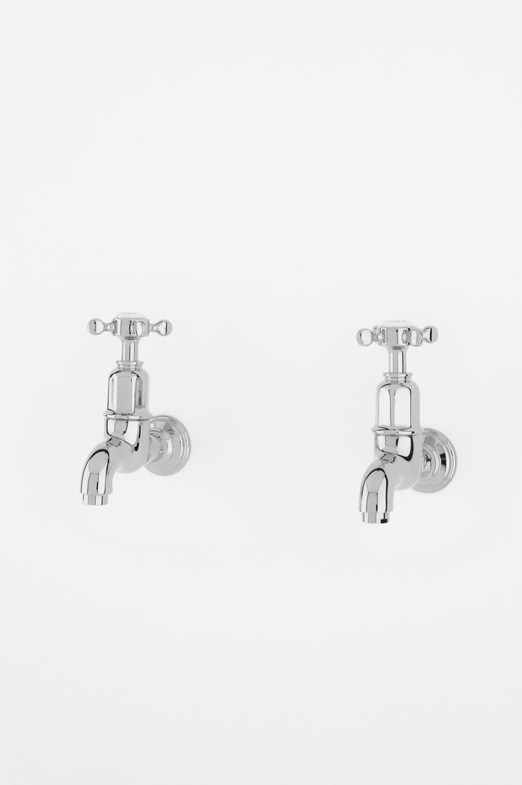 perrin amp rowe mayan wall mounted kitchen taps in chrome complete with crosshead handles cp: perrin rowe lifestyle