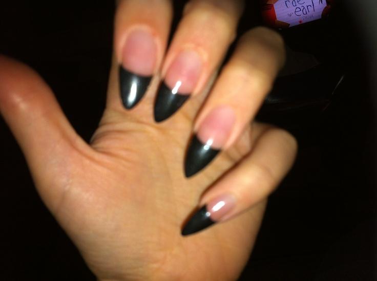 Black acrylic nail paint