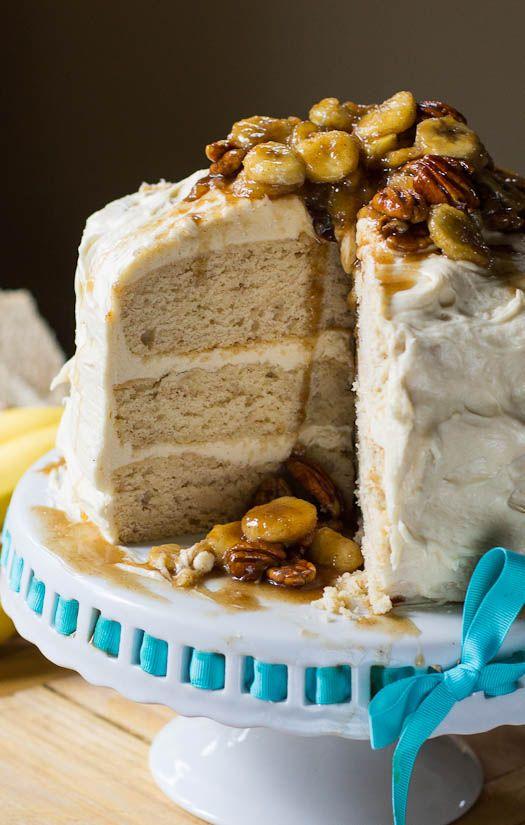 Bananas Foster Cake #dessert
