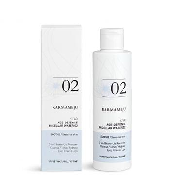 Makeup fjerner - Star 02 - 3-i-1 økologisk renseprodukt til alle hudtyper. 200 ml.  www.mellowway.dk