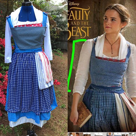 Adult Blue Peasant Dress Costume Cosplay Inspired By Live