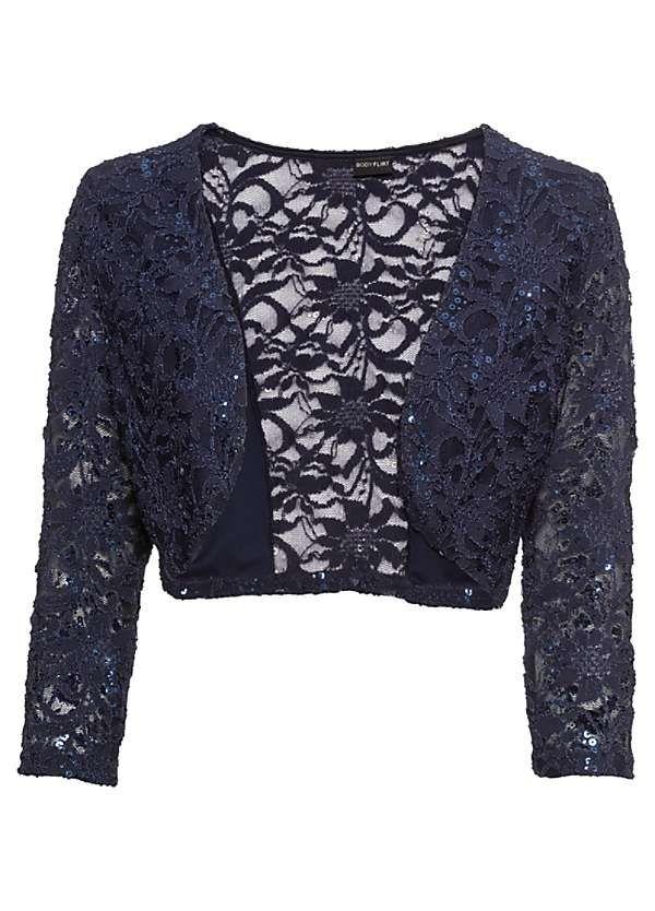 Women Lace Cardigan Bolero Shrug Cape Capelet Tops Flared Sleeve Coat Loose SHP