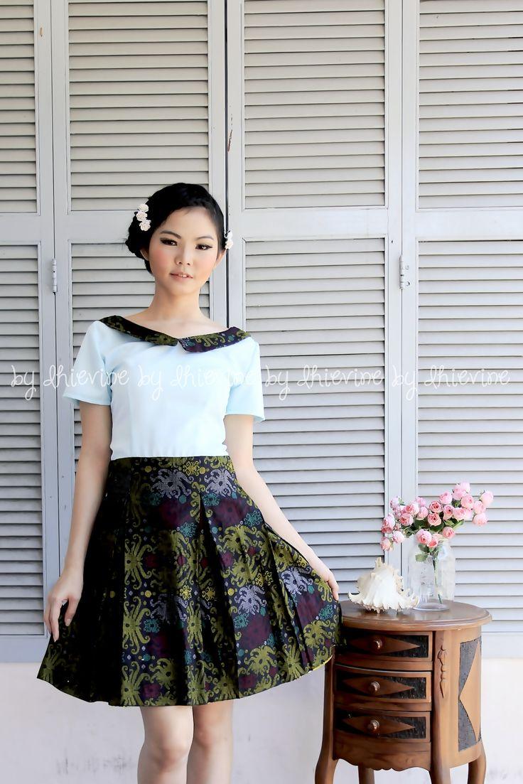 Nandini Dayak batik Dress   DhieVine   Redefine You