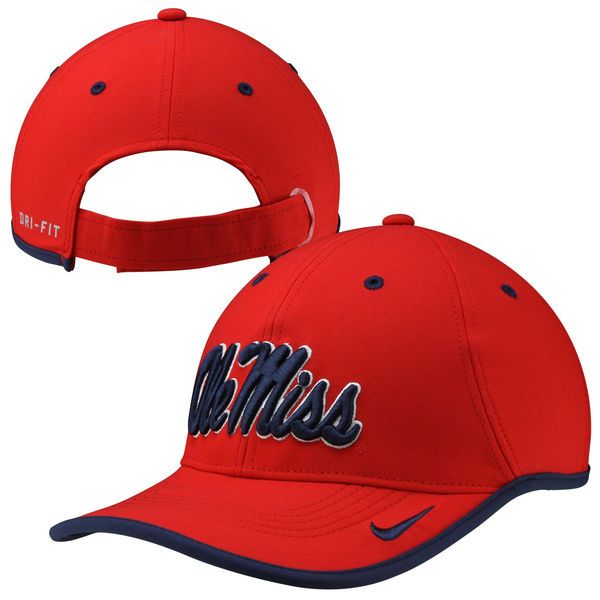 Ole Miss Rebels Nike Coaches Performance Adjustable Hat - Red - $27.99