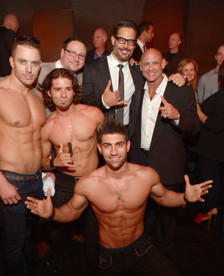 Pin for Later: This Week's Can't-Miss Celebrity Pics!  Joe Manganiello posed with some shirtless hunks at his stripper documentary La Bare's LA premiere afterparty on Wednesday.
