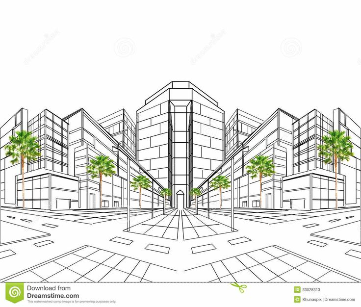 Perspektif 1 titik hilang perspective drawings pinterest for Exterior 1 point perspective