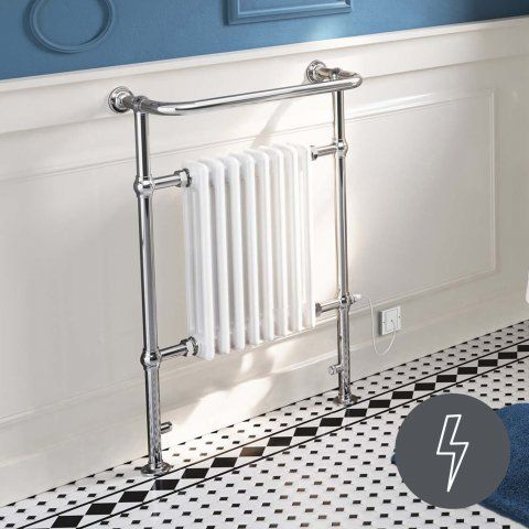 952x659mm Large Electric Traditional Wall Mounted Rail Radiator- [PT-RT27E] - £229.99 : Platinum Taps & Bathrooms