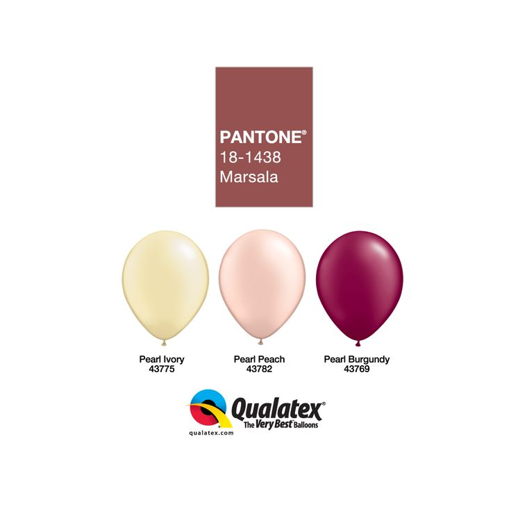 #Marsala is the #Pantone #ColorOfTheYear! #Burgundy is a strong and confident color that is definitely classy for #wedding balloon or other formal events. Its red-brown undertone with go well with all your neutrals, gold and other warm colors.