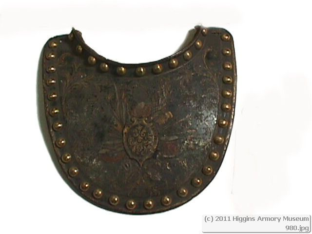 Frontplate of a gorget