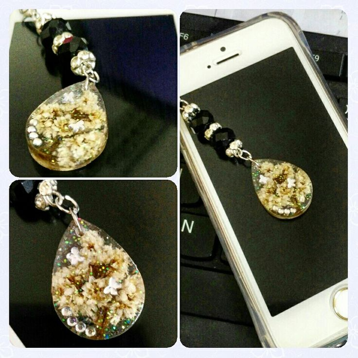 Cell phone charm edelweiss