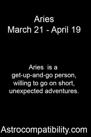 Aries is a... | AstroCompatibility.com