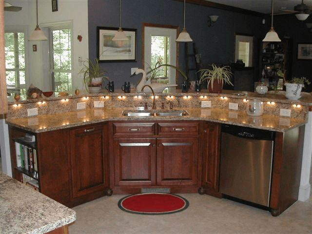 Kitchen island designs with sink and dishwasher #kitchenisland
