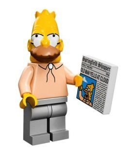The Simpsons Lego Mini Figure Grandpa @ niftywarehouse.com #NiftyWarehouse #Geek #Gifts #Collectibles #Entertainment #Merch