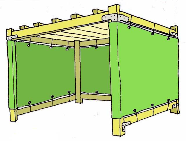 8'x8' (the 'Lil Sukkah): wood frame. $56