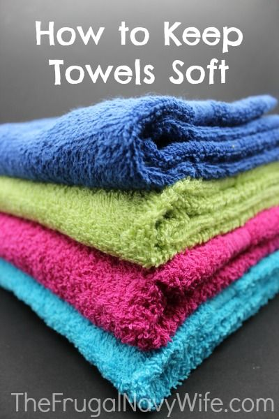 How to Keep Towels Soft - The Frugal Navy Wife