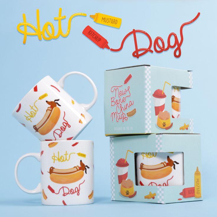 Tazas de perrito Caliente. Diseño exclusivo de Puckator. #tazas #originales #perritos