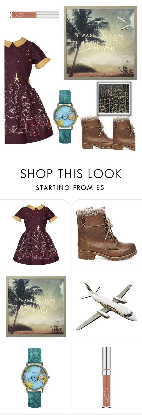 """""""This is the time to meet a world 🌎"""" by uniandcorn1 ❤ liked on Polyvore featuring Palava, Steve Madden and MikeyLins by Petal Lane"""
