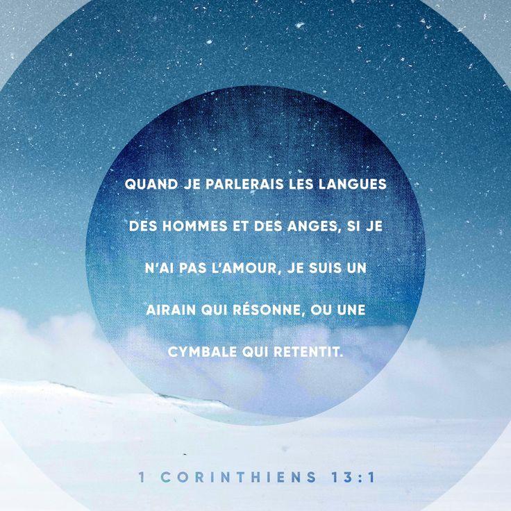«Je peux parler les langues des hommes et les langues des anges. Mais si je n'aime pas les autres, je suis seulement une cloche qui sonne, une cymbale bruyante.» Première lettre aux Corinthiens 13:1 PDV http://bible.com/133/1co.13.1.pdv