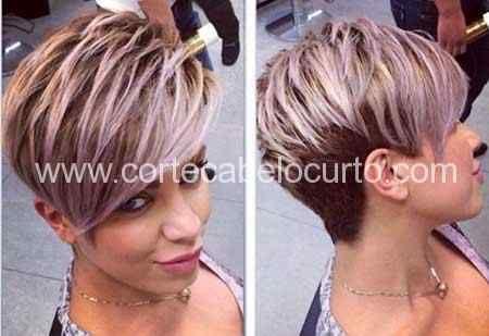 Corte de cabelkpixe corte couto o estilo Pixie