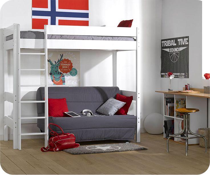 Perfekt Zwei Verschiedene Bereiche Auf Einer Wohnfläche Im Kinderzimmer, Das  Ermöglicht Ihnen Das Hochbett Der Kollektion Clay  Eine Exklusivität Von ...