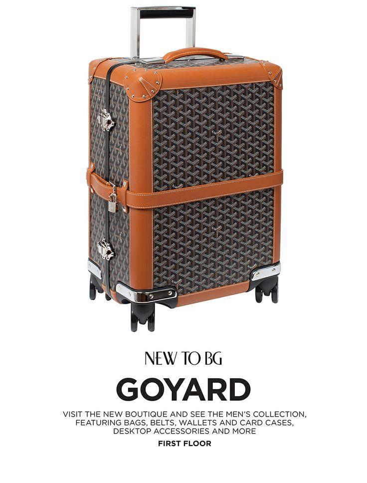 #goyard #luggage @BergdorfGoodman