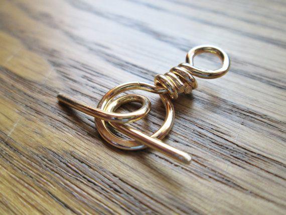 NuGold Brass Toggle Handmade 10 sets by BeadingonaBudget on Etsy, $8.99
