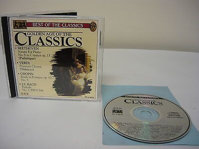 Golden Age of Classics (CD) Classical Concerto Beethoven Verdi Chopin J.S.Bach