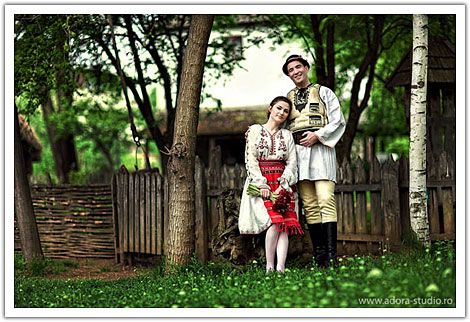 The structure of Romanian traditional clothing has remained unchanged throughout history.The basic garment for both men and women is a shirt or chemise, which is made from hemp, linen or woollen fabric. This is tied round the waist using a fabric belt, narrow for women and wider for men. Nonetheless, people still wear those traditional costumes on special occasions, and at ethnographic and folk events.
