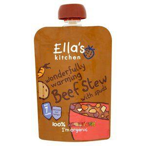Ella's Kitchen Wonderfully Warming Beef Stew with Spuds 7 mth 130g 4.6 oz