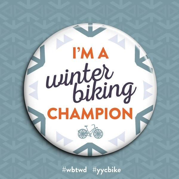 I'm a winter biking champion! #yycbike