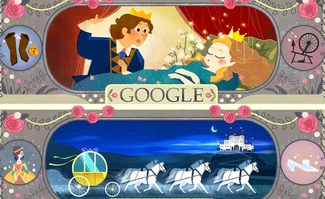 Google homenajea al 'padre' de la 'Cenicienta' y 'La bella durmiente'  http://www.elperiodico.com/es/noticias/ocio-y-cultura/doodle-google-homenajea-autor-cuentos-como-caperucita-roja-bella-durmiente-4809038