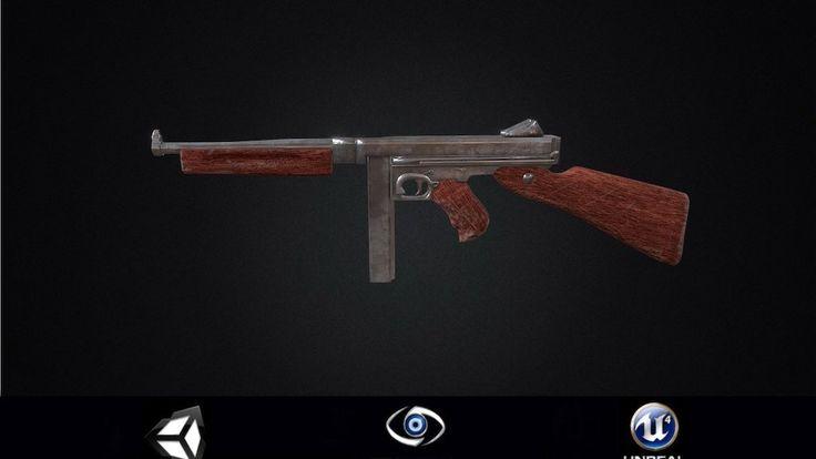 Thompson Submachine Gun PBR by my14888d